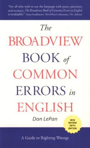 Broadview Book Of Common Errors In Eng.