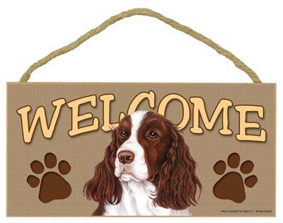 SJT ENTERPRISES, INC. Springer Spaniel Welcome Sign 5
