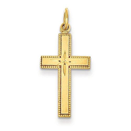 Pendentif Croix en or 14carats-Dimensions 20x 20x 12mm