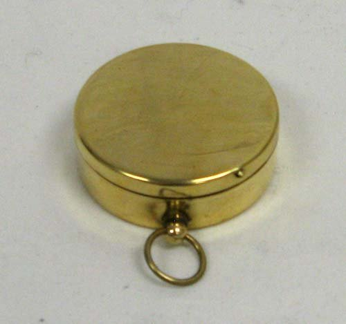 RedSkyTrader Hiking and Camping Brass Pocket Compass with Black Face