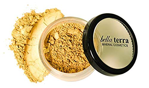 Bella Terra Mineral Powder Foundation   Long-Lasting All-Day Wear   Buildable Sheer to Full Coverage - Matte  Sensitive Skin Approved   Natural SPF 15 (Ivory) 9 grams