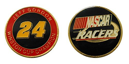 "Nascar Collection (Nascar #24 ""Jeff Gordon"" Challenge Coin / Logo Poker / Lucky Chip)"
