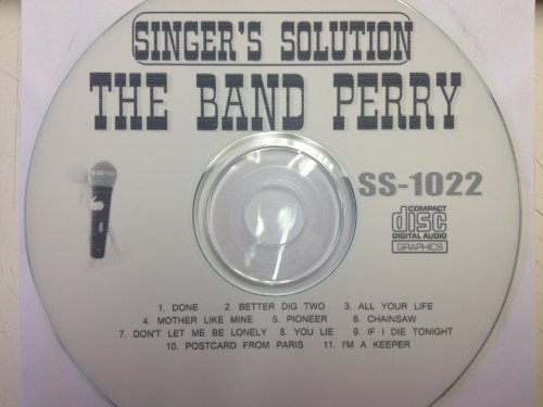 All Hits Of The Band Perry Karaoke CDG SS 1022 DONE Better Dig Two ALL YOUR LIFE 11 Songs