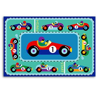 Vroom Laminated Race Track Placemats - Two Pc Set ()
