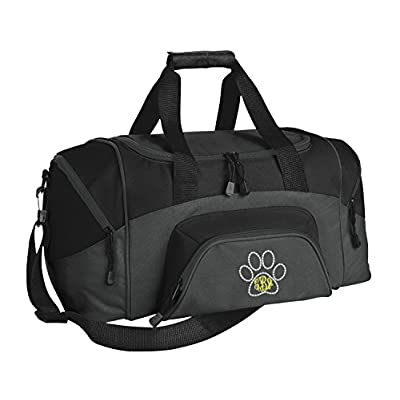 Small Colorblock Sport Duffel Bag by All About Me Company | Personalized Paw Gym Bag - Customize You Black/Dark Charcoal durable modeling
