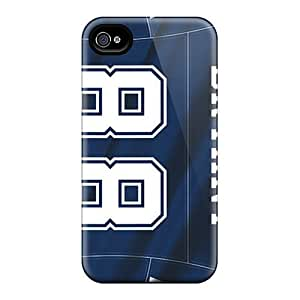 Fashion Tpu Case For Iphone 4/4s- Dallas Cowboys Defender Case Cover