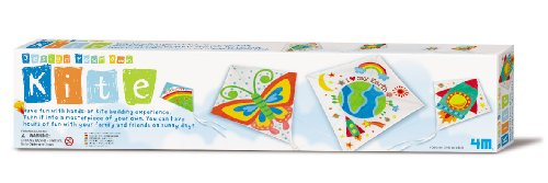 4M Design Your Own Kite Kit - DIY Arts & Crafts Build, Paint, Decorate Custom Flying Fabric Kite