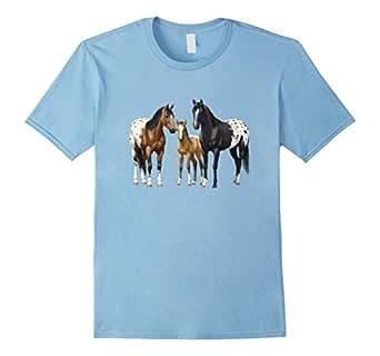 Men's Beautiful Appaloosa Horses 3XL Baby Blue