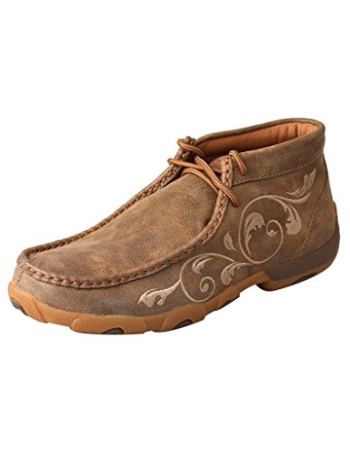 Twisted X Boots Women's WDM0041 Driving Moc,Bomber Leather,US 7.5 M