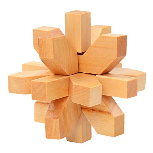 UMFun Wooden Kongming Lock Brain Teaser Puzzle Children Adults Game Toy Wo (G)