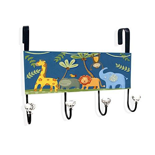 The Kids Room by Stupell Jungle Animals Over the Door Hanger