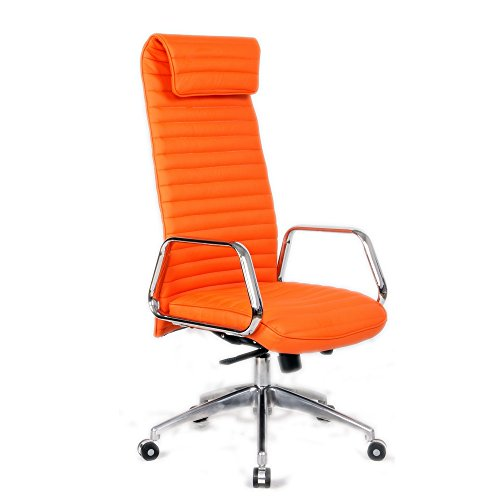Fine Mod Imports Ox Office Chair High Back, Orange