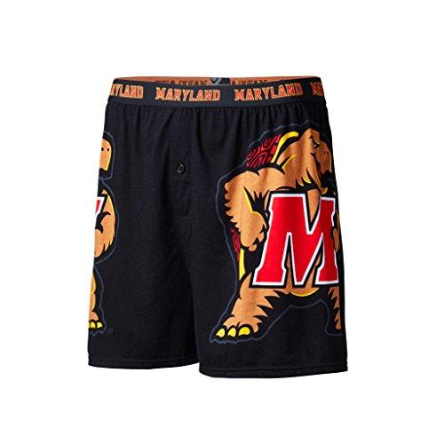 FANDEMICS NCAA University of Maryland Boy's Large Logo Boxer Short, Youth Medium]()