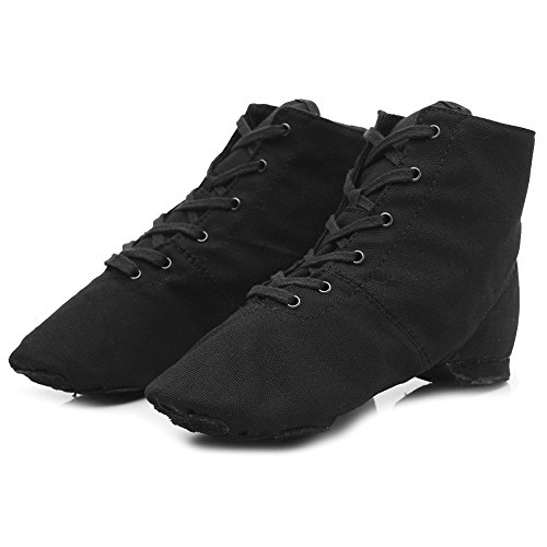 Roymall Men and Womens Boost Dance Sneaker/Modern Jazz Dance Ballroom Performance Dance-Sneakers Sports Shoes,Model JS Black