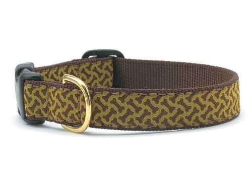 Bones Dog Collar with Quick Release Buckle - Medium (12-18 Inches) - 1 In Width