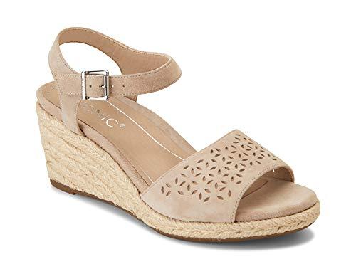 Vionic Women's Tulum Ariel Wedge Sandal - Ladies Sandals Concealed Orthotic Support Nude 8.5 M US