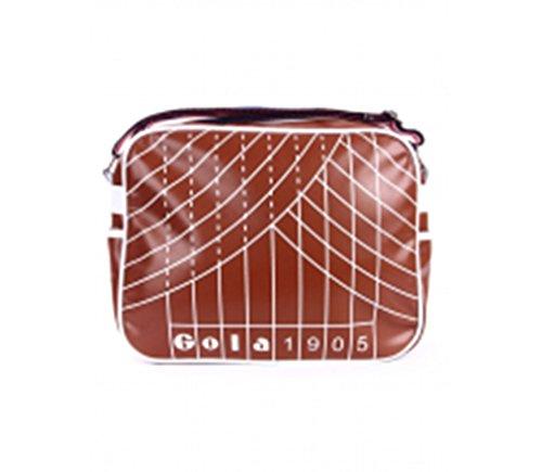Borsa tracolla messenger bag TRACK GOLA REDFORD bianco clay-white/braun