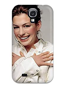 Tpu Shockproof/dirt-proof Anne Hathaway Beautiful Smile Actress Celebrity People Women Cover Case For Galaxy(s4)