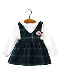 ZHUOTOP Baby Princess Party Dress Infant Girls Elegant Stylish Plaids Style Skirts