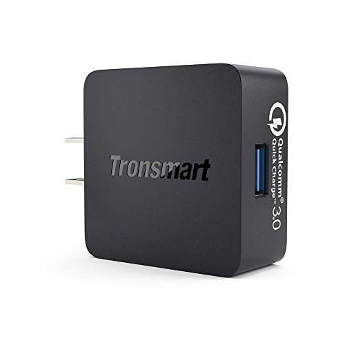 Tronsmart 18W Quick Charge 3.0 USB Wall Charger for Galaxy S7, S7 Edge, HTC 10, LG G5 - Black