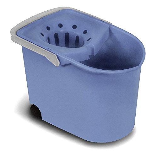 Tatay 1103200 Cubo de Fregar con escurridor y con Ruedas, Azul, 25.50x38.