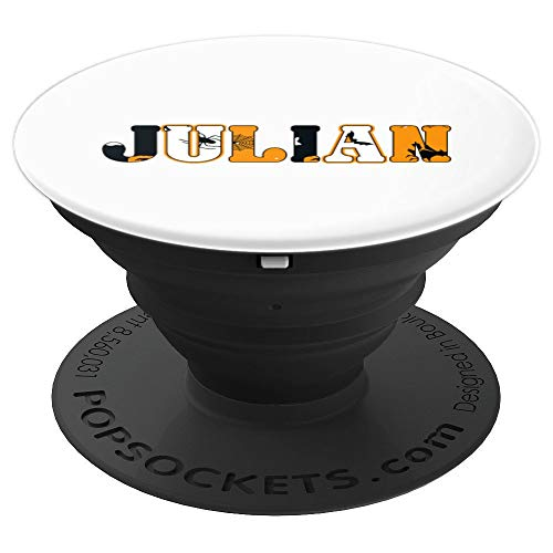 Julian Spooky Name Halloween Gift PopSockets Grip and Stand for Phones and Tablets -