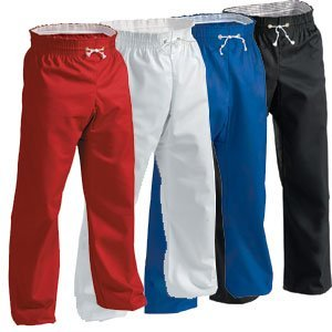Century Martial Arts 8 oz. Middleweight Contact Karate Martial Arts Pants - Black, 1 - Child 8-10
