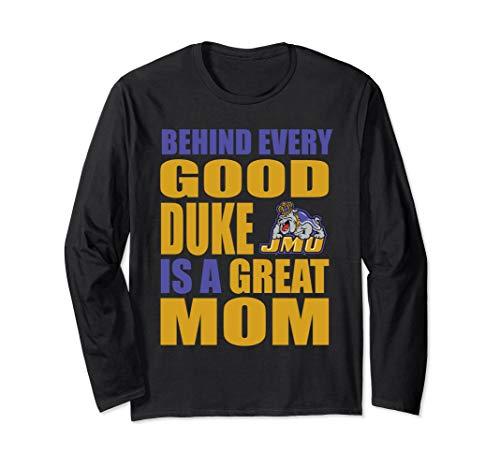 (James Madison Dukes Jmu Duke Mom Shirt Long Sleeve T-Shirt)