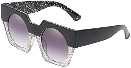 [해외]Glasses Hergoto Fashion Neutral Big Box Double Color Shades Sunglasses Integrated UV Glasses(C) / Glasses Hergoto Fashion Neutral Big Box Double Color Shades Sunglasses Integrated UV Glasses(C)