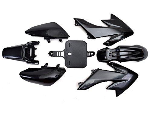 TMS PSHNK Black Plastic Fairing (7 PCS Honda CRF XR 50 CRF 125cc SSR PRO Pit Dirt Bike) (Honda Crf 50 Dirt Bike)