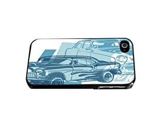 Classic Blue Muscle Cars Hard Phone Case For HTC One M9 Case Cover