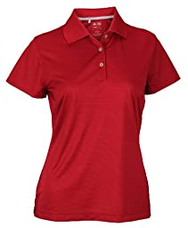 Adidas Taylormade Womens Climalite Textured Solid Golf Polo Shirt (XS, University Red)