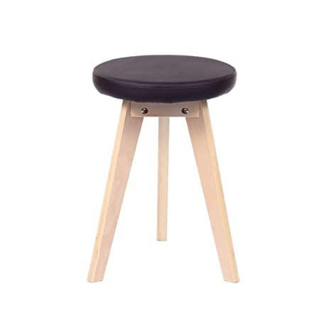Tremendous Amazon Com Footstool Solid Wood Leather Stool Circular Ibusinesslaw Wood Chair Design Ideas Ibusinesslaworg