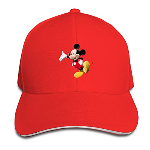 Shenigon Cartoon Mickey Mouse Cap Unisex Low Profile Cotton Hat Baseball Caps Red