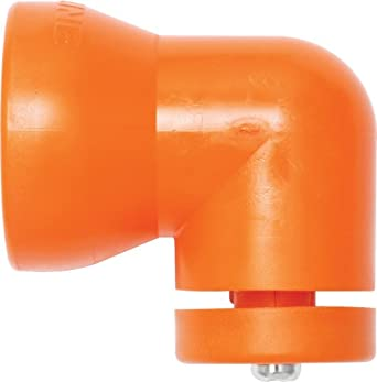 """Loc-Line Coolant Hose Component, Acetal Copolymer, Shield Mounting Elbow with Washer and Screw, 3/4"""" Hose ID (Pack of 2)"""