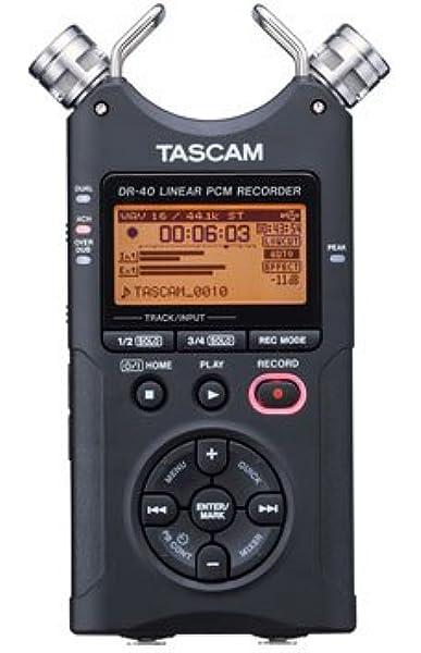 Amazon Com Tascam 4 Ad Converter Black Dr 40 Dr 40 Musical Instruments