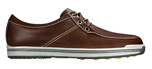 FootJoy Contour Casual Boat Shoes Mens - Dark Brown 54252 - 10 MEDIUM (Footjoy Shoes compare prices)