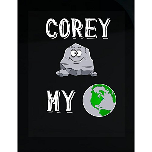 Corey Rocks My World Funny Cute Valentines Day Gift - Sticker