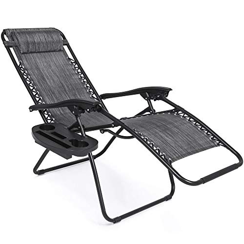 patio, lawn & garden, patio furniture & accessories, patio seating, chairs,  lounge chairs  discount, Best Choice Products Set of 2 Adjustable Zero Gravity Lounge Chair Recliners for Patio, Pool w/ Cup Holder Trays, Pillows » Gray promotion2