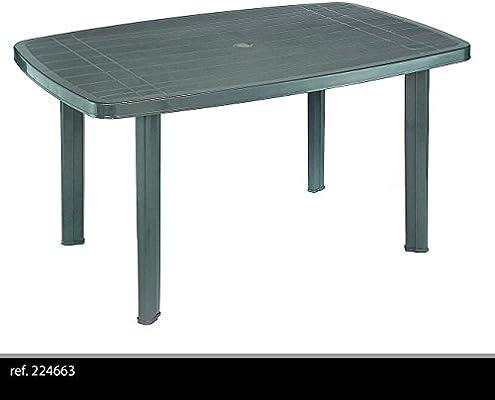 Tavoli Verde Da Giardino.Fun Star Tavolo In Plastica Dimensioni 85x137x72 Cm Verde