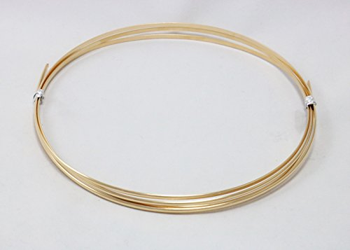 16 Gauge, 14/20 Yellow Gold Filled, Half Round, Dead Soft - 5FT from Craft Wire (Round Wire Gold Filled)