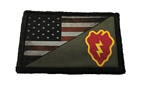 - Full Color 25th Infantry Division USA Flag Morale Patch Tactical Military. 2x3