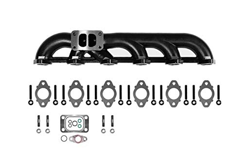 Upgraded High Flow Ceramic Coated Exhaust Manifold For 5.9L 03-07 Dodge Ram Cummins