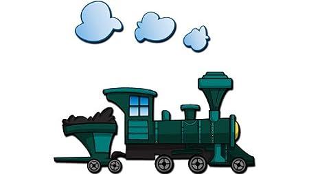 Train Engine 3d Cartoon Wall Art Orientation Right Facing Amazon