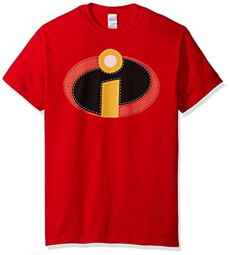 Disney Men's The Incredibles Costume T-Shirt, Red, Medium