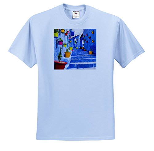 3dRose Danita Delimont - Cities - North Africa, Morocco, Chefchaouen. colorful Pots Line The Street. - T-Shirts - Light Blue Infant Lap-Shoulder Tee (12M) (TS_276507_76) by 3dRose