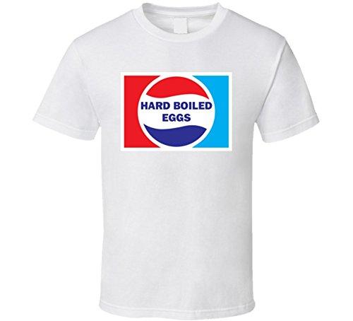 (Hard Boiled Eggs Lover Cola Parody Gift T Shirt L White)