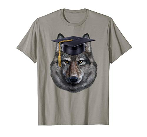 Grey Wolf in University, Square Academic Cap - ()