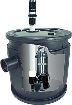 """BurCam 401450 Sewage System, 1/2 hp, 115V, 24"""" x 24"""""""
