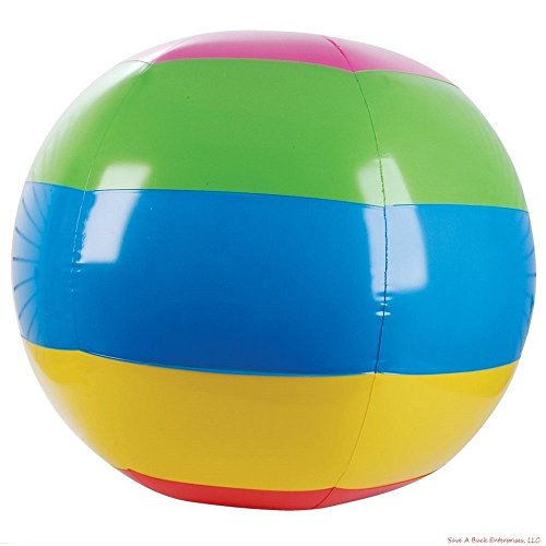 LARGE GIANT MASSIVE 46 INCH INFLATABLE BEACH BALL - OUTDOOR (46 Inflatable)